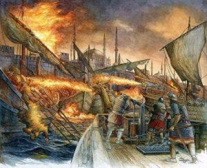 «Греческий огонь» — прообраз напалма