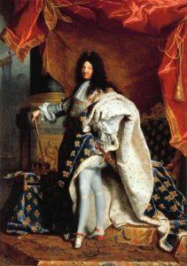 Было запрещено поворачиваться спиной к портрету Людовика XIV